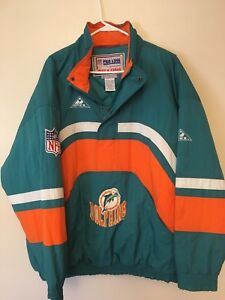8105f8e16 Vintage 90s NFL Miami Dolphins Pro Line Apex One 1 2 Zip Puffer ...