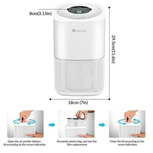 HEPA Air Purifier Filter For SY910 Compatible Ionic Small Home Air Clean System