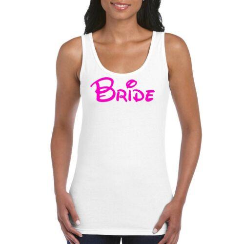 Bride Hen Party Neon Pink Personalised Women/'s Ladies Tank Top Vest T Shirt