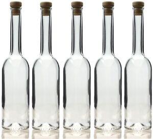 10 x 500 ml leere Edel Glasflaschen Schnapsflasche Likör flasche 0,5 Liter Opera