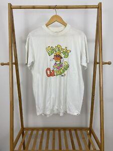 RARE-VTG-80s-Hanes-Fifty-Fifty-Hey-Dudes-OJ-Bunga-Thin-White-T-Shirt-Size-L-USA