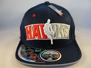 best authentic 67ba3 b2e07 Image is loading Atlanta-Hawks-NBA-Adidas-Flex-Cap-Hat-Size-