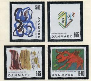 Denmark-Sc-1102-05-1998-Contemporary-Art-stamp-set-mint-NH