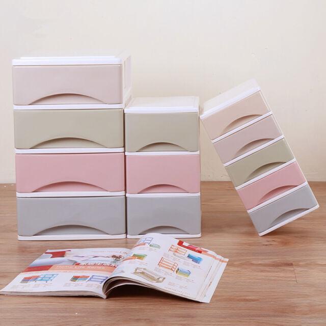 1PC Cosmetic Organizer Storage Box Drawer Case Desk Organizer Decor
