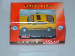 Schuco-Modellauto-Mercedes-Benz-CLK-230-Coupe-gelb-Junior-Line-1-72-Neu-OVP