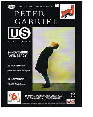 Publicite Advertising 1993 Nrj Radio Peter Gabriel En Concert Exquisite Traditional Embroidery Art Collectibles