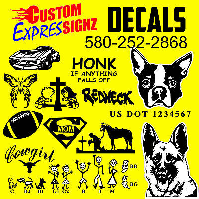custom decal window sticker dot number vinyl lettering bumper personalized dog