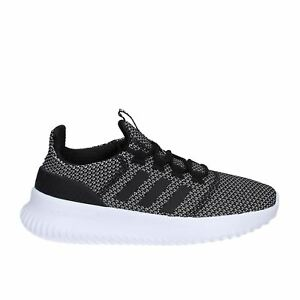 Image is loading ADIDAS-CLOUDFOAM-ULTIMATE-BLACK-SILVER-AQ1689-KIDS-UK-