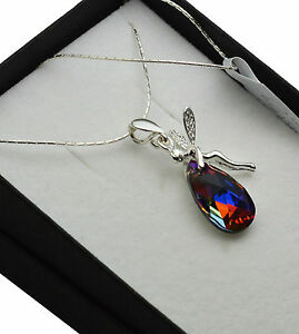 925-Sterling-Silver-Necklace-made-with-Swarovski-Crystals-Volcano-Elf-Fairy