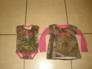 Infant Baby Girls Pink Realtree Camo CARHARTT Shirt Outfit ...