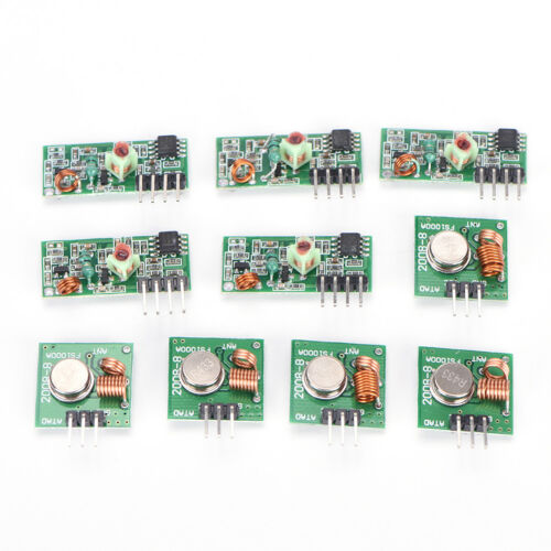 5x 433Mhz RF transmitter and receiver kit Module Arduino ARM WL MCU RaspbR JX WN
