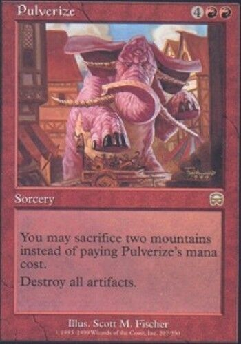 4 Pulverize ~ Lightly Played Mercadian Masques 4x x4 Playset MTG Magic Red Card