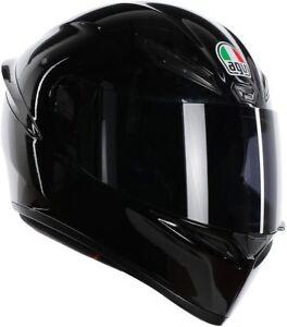 CASCO-INTEGRALE-MOTO-AGV-K-1-NERO-LUCIDO-CHIUSURA-DOPPIO-ANELLO