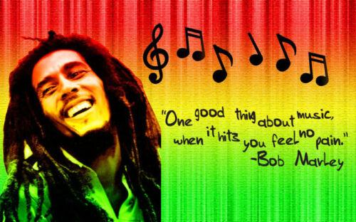 "Bob Marley Art Wall Silk Poster 20x13/"" B31"