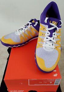 6757658fc NIB Nike Free Trainer 5.0 V6 AMP LSU Tigers Shoes Size 8 Purple Gold ...