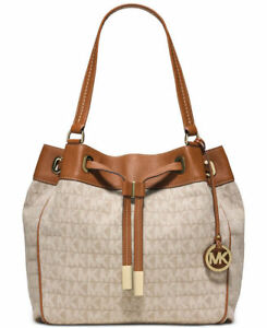 f3262c674c98 Image is loading Michael-Kors-MARINA-Large-Drawstring-Tote-Handbag-for-