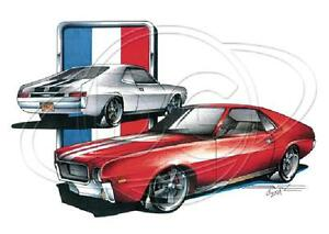 Amc American Motors Javelin Amx Muscle Car T Shirt Small To 5xl Ebay