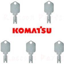 5pcs Komatsu Forklift Ignition Keys 166 Hyster Clark Yale Jlg Crown Gradall