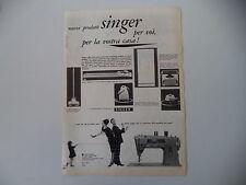 advertising Pubblicità 1961 SINGER MACCHINA PER CUCIRE 401/MAGLIABELLA/SCRIVERE