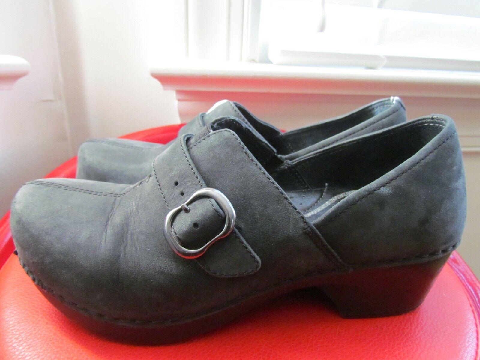 DANSKO BLACK LEATHER WOMEN'S CLOGS CLOGS CLOGS SIZE 36 (EUROPEAN) 7f2fa8