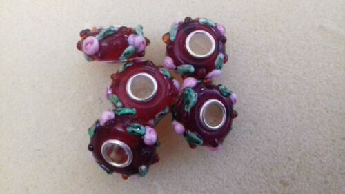 FLOWERS AND MORE MURANO LAMPWORK GLASS BEADS