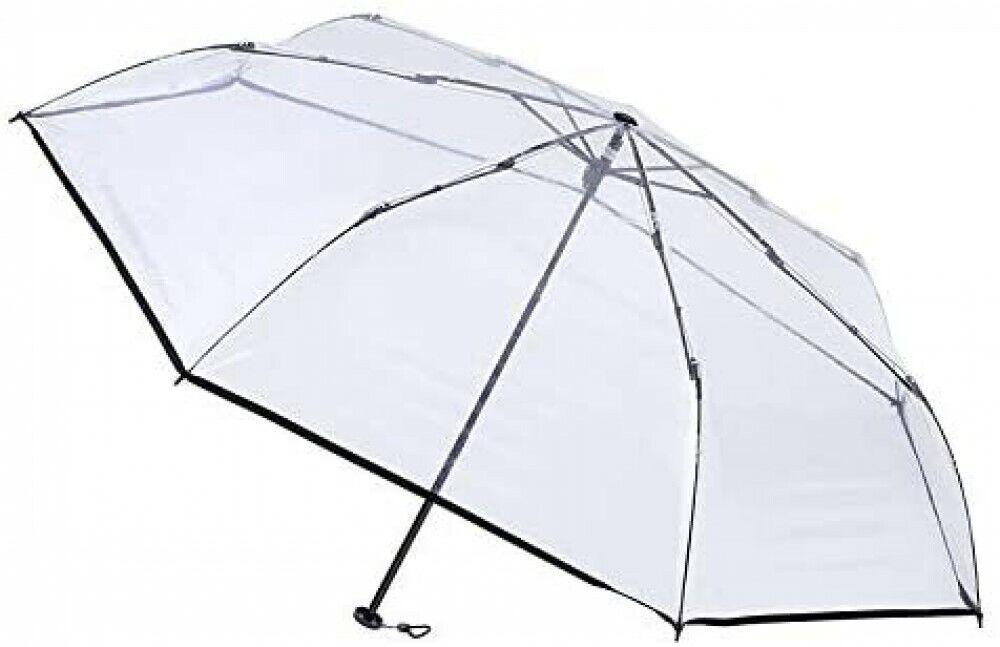 [Black] estaa Vinyl Lightweight Folding Simple Umbrella with Case 220g JAPAN