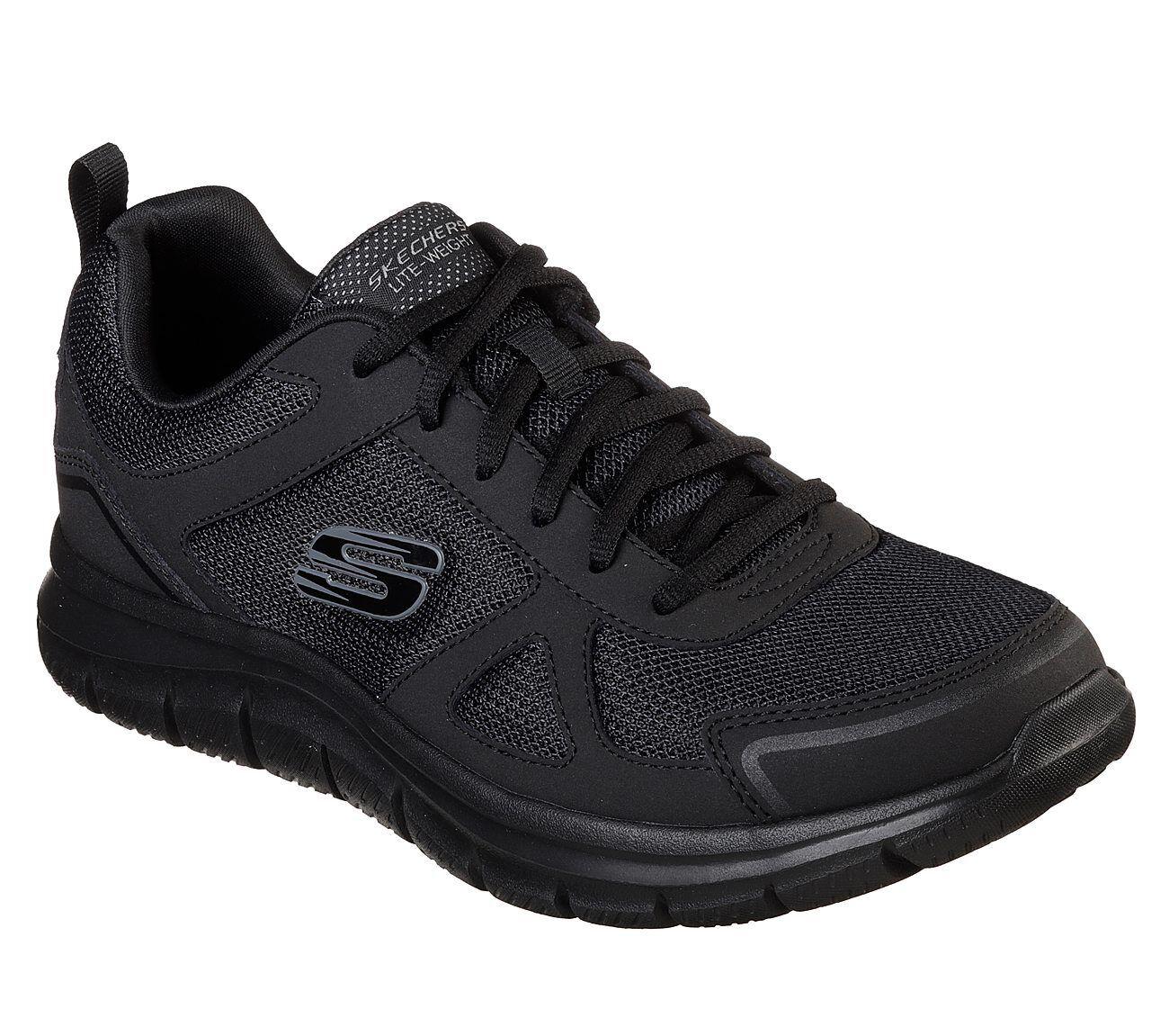 52631 Wide Fit Black Skechers shoe Men Memory Foam Sport Comfort Train Soft Mesh