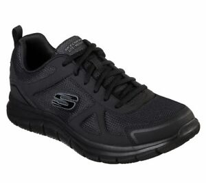 52631-Wide-Fit-Nero-Skechers-Scarpa-Uomo-Memory-Foam-Sport-Comfort-Treno-Morbido-mesh
