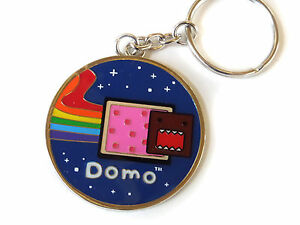 Domo-Kun-Rainbow-Metal-Key-Chain-Ring-officially-Licensed-Keychain-anime