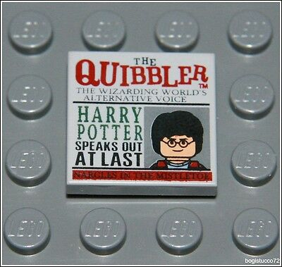 Lego Harry Potter x1 Tan Newspaper , The Quibbler Pattern Tile Minifigure NEW