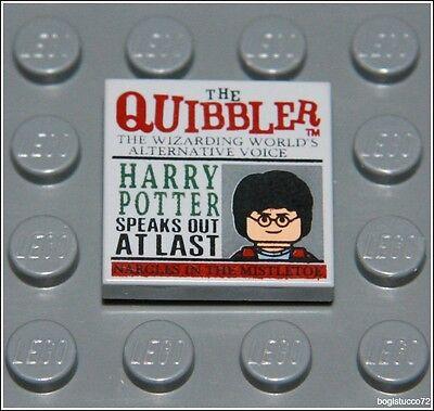 Lego Harry Potter x1 Tan Newspaper , The Quibbler Pattern Tile Minifigure NEW