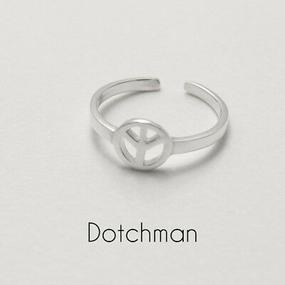 Cooperative 925 Sterling Adjustable Peace Toe Ring Perfect In Workmanship Jewellery & Watches