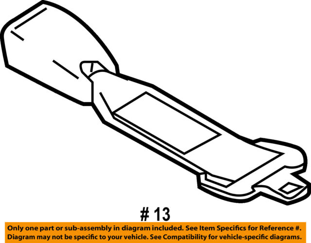 Mazda Oem Dry25763x Front Seat Belts Extension