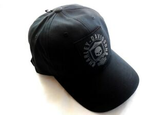 Harley-Davidson-Skull-Totenkopf-Shield-Patch-Baseball-Cap-99492-17VM