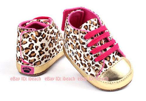 Newborn Baby Girl Gold Crib Chaussures Bébé Chaussons Prewalker Baskets Taille 0-18 M