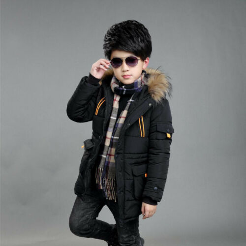 Warm Winter Boys Kids Hooded Warm Quilted Puffer Coat Jacket School Trendy*-**-*