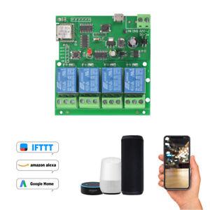 New-5V-7-32V-4-Channel-4CH-WiFi-Wireless-Relay-Switch-Control-Module-AH531