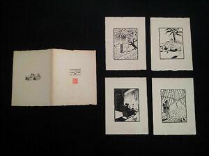 Beau-portfolio-signe-Art-Deco-1928-les-quatre-saisons-de-l-039-amour-estampes