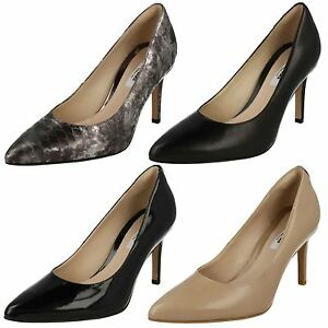 Heel Dinah Ladies Shoes High D Clarks Fitting Leather Black Smart Keer Court g5ryqIAwSr
