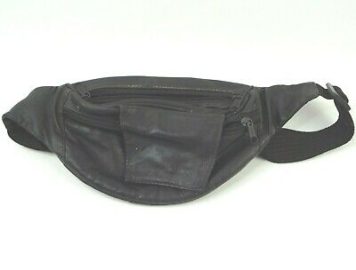 Fanny Pack Genuine Leather Mens Waist Belt Bag Womens Purse Hip Pouch Travel
