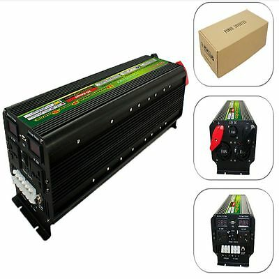 LED display 5000Watt 10000W(peak) 12V To 220V Power Inverter+Battery Charger UPS
