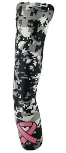 Sports Arm Sleeve Compression Arm Sleeve Anti-Slip Breast Cancer Awareness Flame