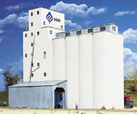Adm Grain Elevator Kit Walthers N Scale 933-3225 Industry