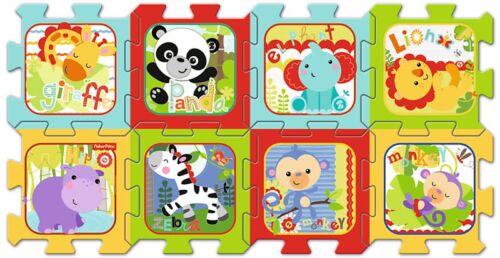 Trefl 8 Stück Baby Kinder Kleinkind Unisex Weich Schaum Matte Safari Tiere