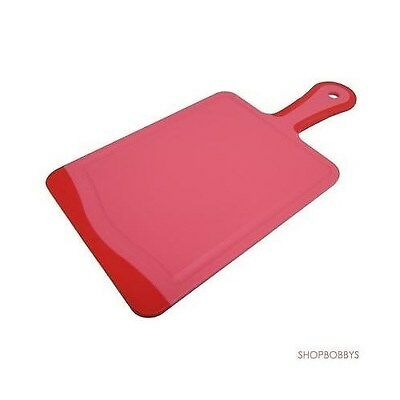 "Microban Antimicrobial Paddle Cutting Board With Handle Cherry Red - 14""X7"""