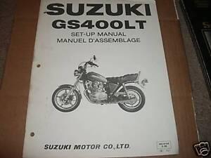 1980 80 suzuki gs400 gs 400 lt l t setup manual set up ebay rh ebay ie suzuki gs 400 service manual pdf suzuki gs400 service manual