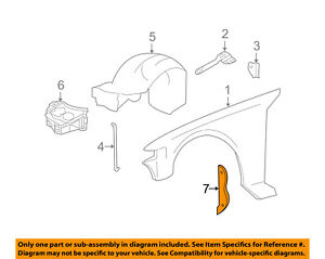 Lincoln FORD OEM 10-11 Town Car Fender-Sound Absorber Right AW1Z16B280A    eBayeBay