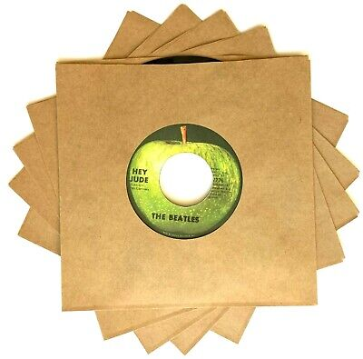 25 Pack of Kraft Brown Cardboard Chipboard Sleeves Jackets for 7-inch 45 RPM Vinyl Record Singles 45s 45rpm 7-in.