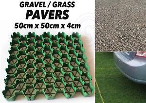 Lot de 80 herbe grilles allée drainage gravier gazon sol pavage pelouse jardin base