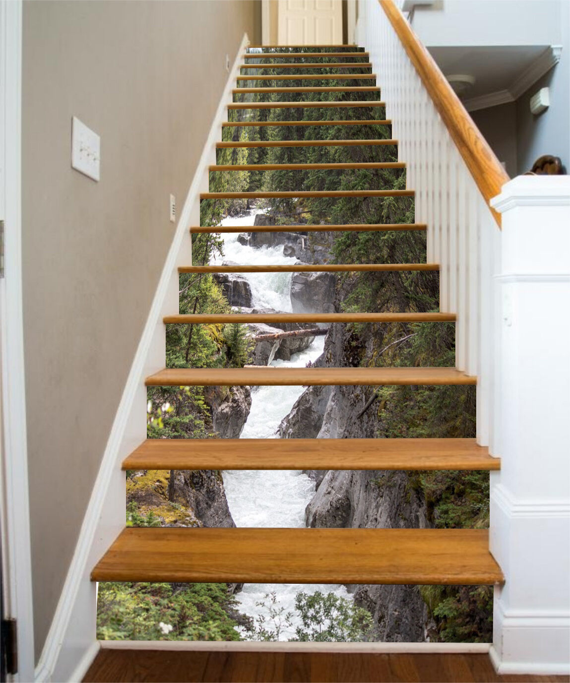 3D Schlank Fluss 56 Stair Risers Dekoration Fototapete Vinyl Aufkleber Tapete DE